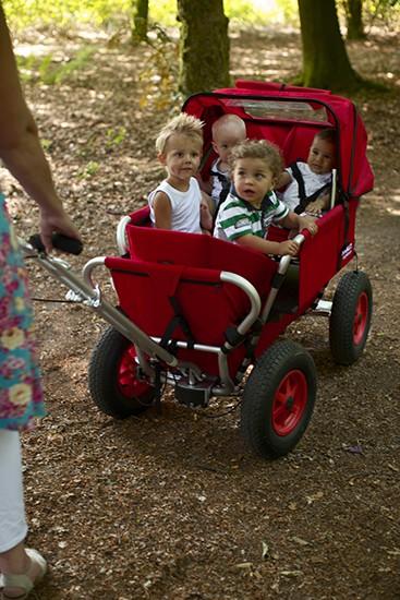 Tagesmutter Krippenwagen im Einsatz