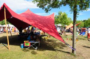 Tentickle Zelt als Sonnensegel für Kindergarten