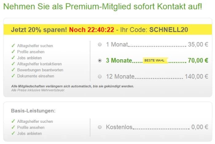 Betreut.de Premiummitglied