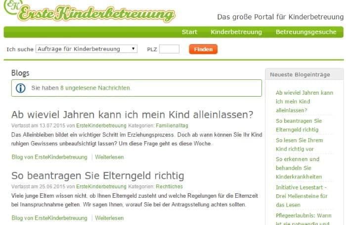 ErsteKinderbetreuung Blog